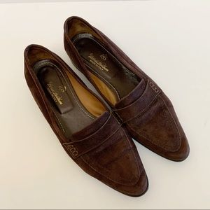 Brooks Brothers Brown Suede Leather Loafer Sz 6.5